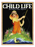 Catch of the Day - Child Life, June 1928 Giclee Print by Hazel Frazee