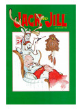 Sleeping Santa - Jack and Jill, December 1983 Giclee Print by Dennis Anderson