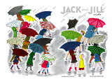 Umbrellas - Jack and Jill, April 1945 Giclee Print by Stella May DaCosta