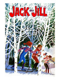 Skying Through the Woods - Jack and Jill, January 1982 Giclee Print by Beth and Joe Krush