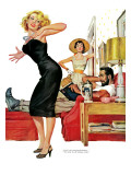 "No Man for Nancy, Part 1 - Saturday Evening Post ""Leading Ladies"", January 7, 1956 pg.32 Giclee Print by Ernest Chiriaka"