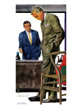 "Take-Charge Guy - Saturday Evening Post ""Men at the Top"", January 10, 1959 pg.31 Giclee Print by Dick Stone"