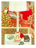 """The Marriage Wrecker - Saturday Evening Post """"Leading Ladies"""", March 1, 1958 pg.22 ジクレープリント : コビー・ホイットモア"""