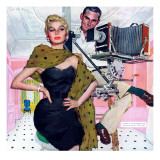 "Model Wife  - Saturday Evening Post ""Leading Ladies"", August 13, 1955 pg.20 Giclee Print by Joe deMers"