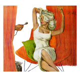 "Mother is a Movie Queen - Saturday Evening Post ""Leading Ladies"", September 30, 1961 pg.41 Giclee Print by Coby Whitmore"