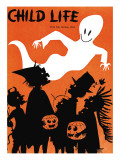 The Ghost Flys By - Child Life, October 1960 Giclee Print by John Strail