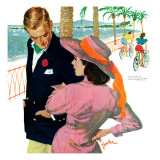 "The Strategy of Love - Saturday Evening Post ""Men at the Top"", September 28, 1957 pg.32 Giclee Print by Joe Bowler"