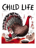 Mr. Turkey - Child Life, November 1955 Giclee Print by Elsie Fowler