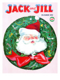 Santa Wreath - Jack and Jill, December 1959 Giclee Print by Unknown 