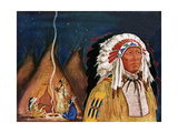 Indian Chief - Jack and Jill, November 1952 Giclee Print by Betty Hessemer