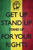 Keep Calm parodie: Bob Marley Get Up, Stand Up Affiche