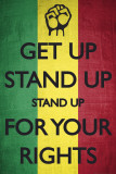 Get Up Stand Up, in Rasta kleuren Posters