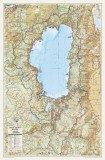National Geographic Lake Tahoe Basin Map Poster