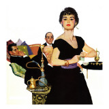 "Auctioned Bride - Saturday Evening Post ""Men at the Top"", October 16, 1954 pg.34 Giclee Print by Coby Whitmore"