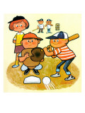 Batter Up - Jack and Jill, August 1964 Giclee Print by Lee de Groot