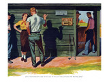 "The Wrong Kind of Boy  - Saturday Evening Post ""Leading Ladies"", April 18, 1953 pg.30 Giclee Print by Bill Fleming"