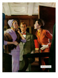 "Divorce for Sale - Saturday Evening Post ""Leading Ladies"", January 10, 1953 pg.21 Giclee Print by R.G. Harris"