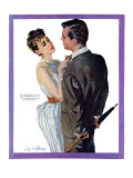 Inexperienced Male  - Saturday Evening Post &quot;Leading Ladies&quot;, December 4, 1954 pg.29 Giclee Print by Coby Whitmore