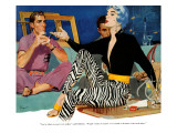 "Custon - Made Bride  - Saturday Evening Post ""Leading Ladies"", March 27, 1954 pg.30 Giclee Print by SEP"