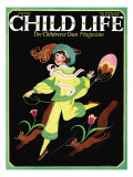 Dancing Girl with Squirrels - Child Life, June 1925 Giclee Print by Hazel Frazee