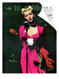 "The Muses Is My Racket  - Saturday Evening Post ""Leading Ladies"", February 3, 1945 pg.13 Giclee Print by Al Parker"