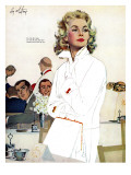 "Too Young for Trouble - Saturday Evening Post ""Leading Ladies"", May 7, 1960 pg.42 Giclee Print by Coby Whitmore"