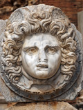 Libya, Leptis Magna; Head of Medusa in the Forum Photographic Print by Nick Laing