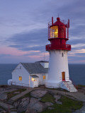 The Idyllic Lindesnes Fyr Lighthouse, Lindesnes, Norway Stampa fotografica di Doug Pearson