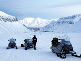 Arctic, Norway, Spitsbergen; Skidoo Adventure Photographic Print by Nick Laing