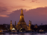 Bangkok, Thailand; the Wat Arun Temple across the Chao Phraya River at Sunset Photographic Print by Dan Bannister