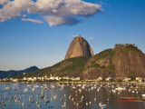 Brazil, Rio De Janeiro, Botafogo, View of Sugar Loaf Photographic Print by Jane Sweeney