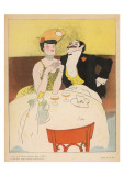 Art Deco Couple Fine Dining Posters