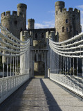 Uk, North Wales; Conwy; the Suspension Bridge across the Conwy River; Photographic Print by John Warburton-lee