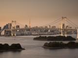 Rainbow Bridge and Tokyo Bay from Odaiba, Tokyo, Japan Photographic Print by Jon Arnold