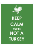 Keep Calm You're Not a Turkey Art