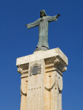 Spain, Menorca; Statue of Christ at Monte Toro, the Highest Point on the Island Photographic Print by John Warburton-lee