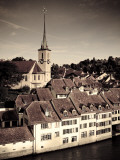 Switzerland, Bern, Old Town (Unesco World Heritage Site) and Aare River Photographic Print by Michele Falzone