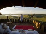 Kenya, Laikipia, Ol Malo; a Star Bed Laid Out on the Roof Terrace of Ol Malo House Photographic Print by John Warburton-lee