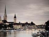 Michele Falzone - Switzerland, Zurich, Old Town and Limmat River Fotografická reprodukce