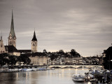 Switzerland, Zurich, Old Town and Limmat River Photographic Print by Michele Falzone