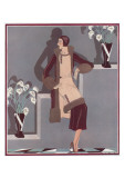Art Deco Female and Flowers Posters