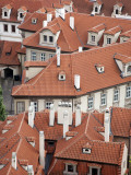 Czech Republic, Prague; Rooftops Seen from Prague Castle Fotografie-Druck von Niels Van Gijn