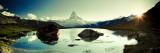 Michele Falzone - Switzerland, Valais, Zermatt, Lake Stelli and Matterhorn (Cervin) Peak Fotografická reprodukce