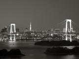 Rainbow Bridge and Tokyo Bay from Odaiba, Tokyo, Japan Photographie par Jon Arnold