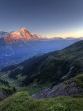 Switzerland, Bernese Oberland, Grindelwald, First, Mt Eiger Photographic Print by Michele Falzone