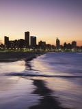 View of City Skyline and Beachfront at Sunset, Durban, Kwazulu-Natal, South Africa Photographic Print by Ian Trower