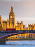 Uk, England, London, Houses of Parliament, Big Ben Photographic Print by Alan Copson