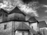 Abbey Church, Ottmarsheim, Haut-Rhin Department, Alsace, France Photographic Print by Ivan Vdovin