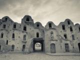 Tunisia, Ksour Area, Ezzahra, Ksar Ezzahra, Fortified Grain Storage Ksar Building Photographic Print by Walter Bibikow