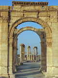 Syria, Palmyra; Archway Off the Cardo Maximus Photographic Print by Nick Laing